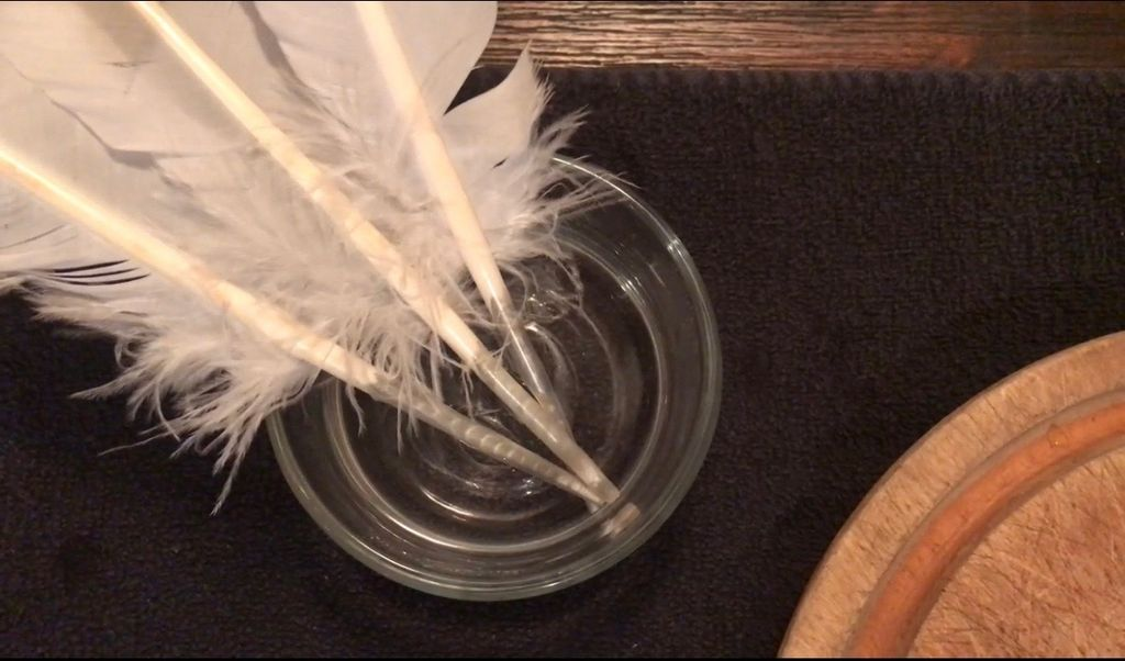 Picture of Step One: Soak the Quill