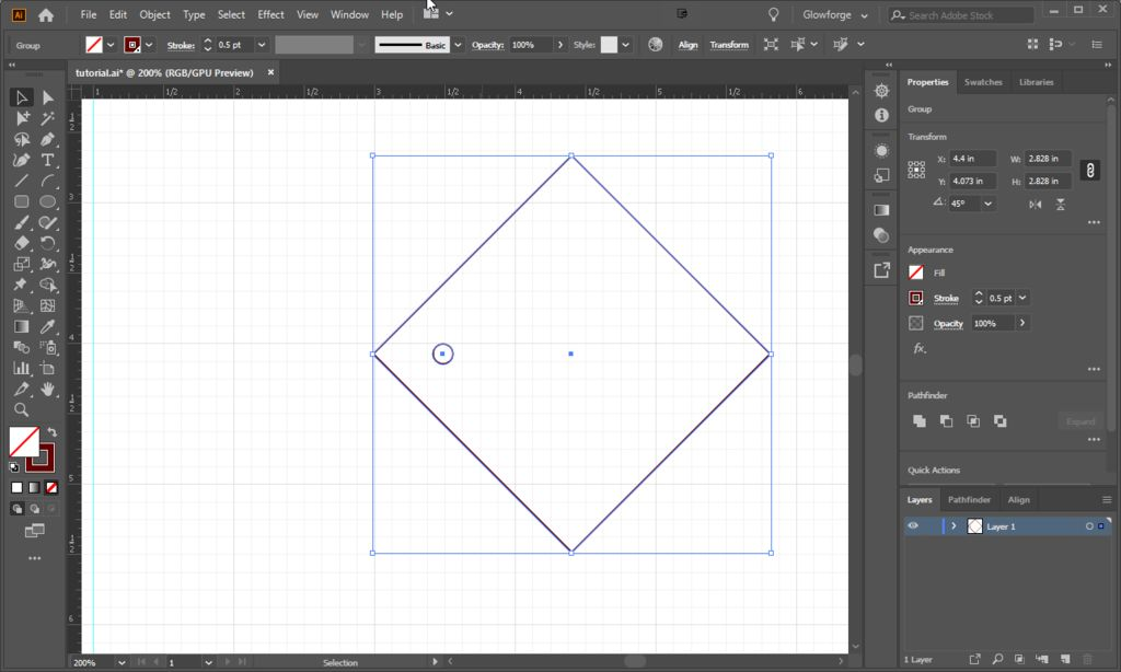 Picture of Create Square With Screw Holes