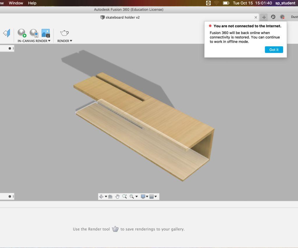 Skate Board Shelf 2ft Version