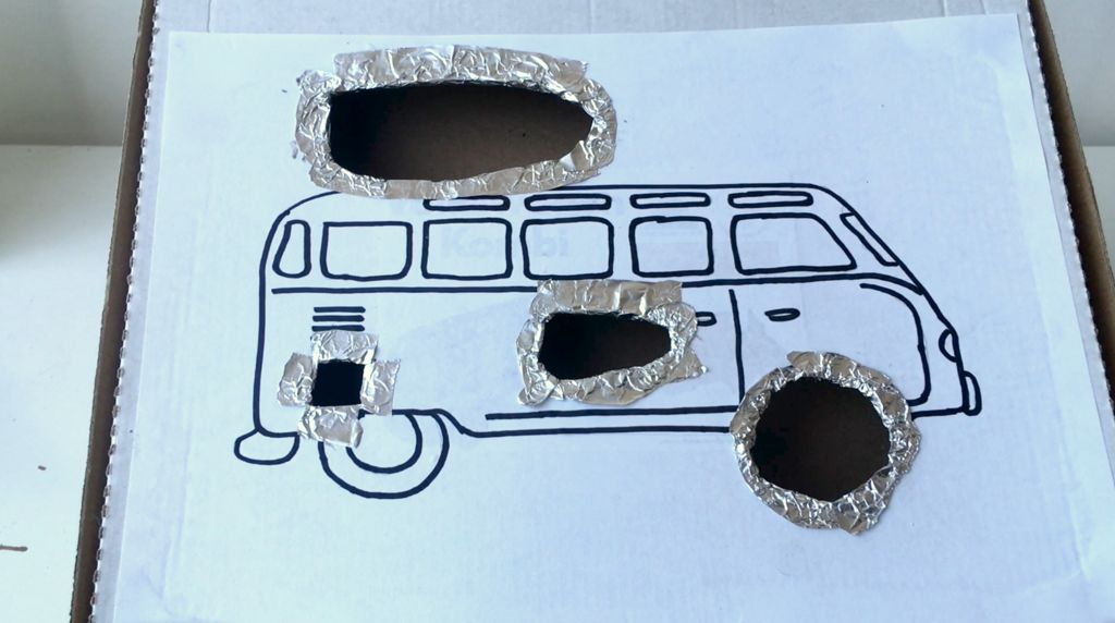 Picture of Line Hole Edges With Foil