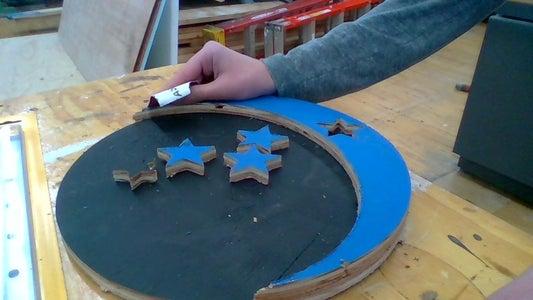 Step 3:  Glue...               ...THE MOON!!