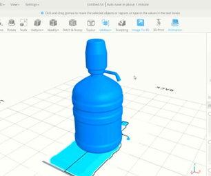 SelfCAD 3D Plastic Bottle