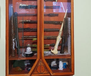 Harry Potter Wand Display Case With Secret Door Latch
