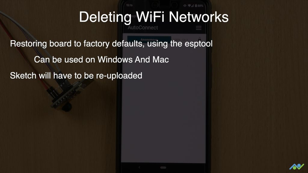 Picture of Deleting WiFi Networks