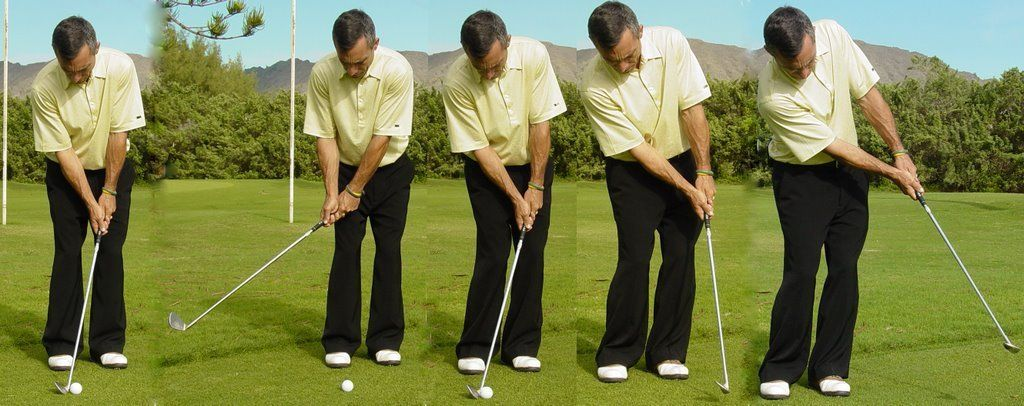 Picture of Swing Club Forward and Hit Ball