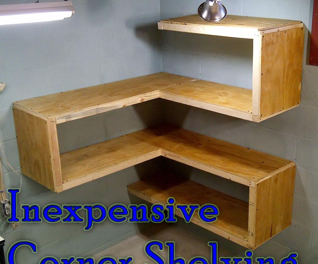 Inexpensive Corner Shelving