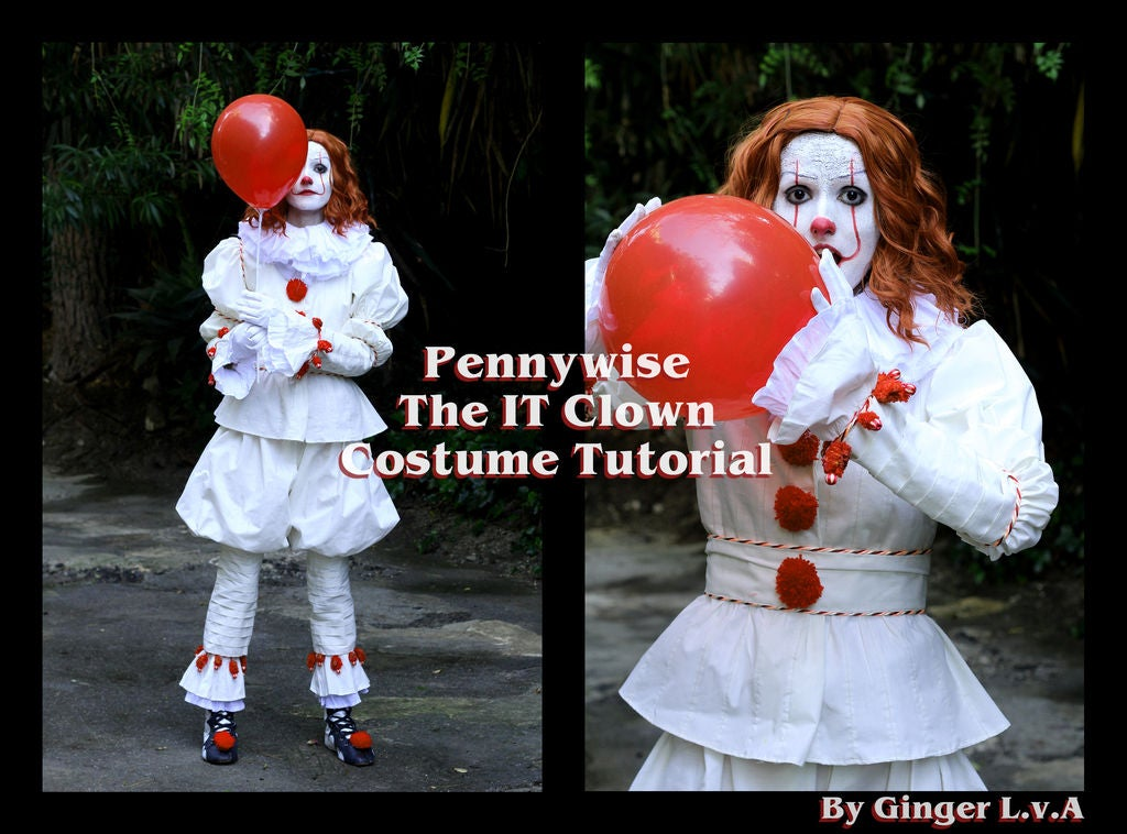 Picture of Pennywise the IT Clown: Full Costume, Shoes + Make-up Tutorial
