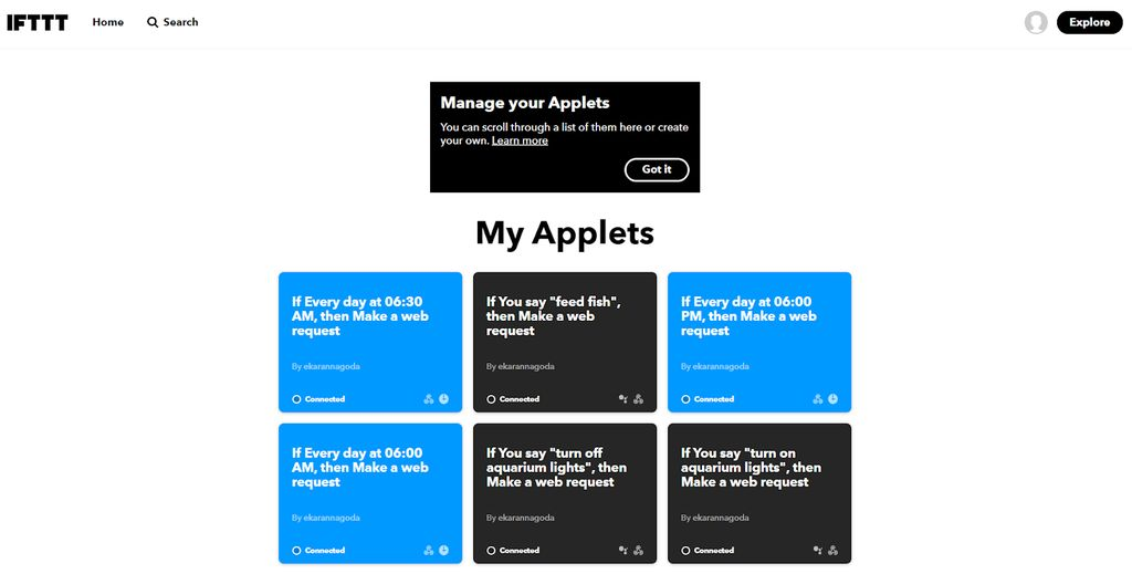 Picture of Programming and Cloud Integration Service - IFTTT and Siri / Google Assistant Integration