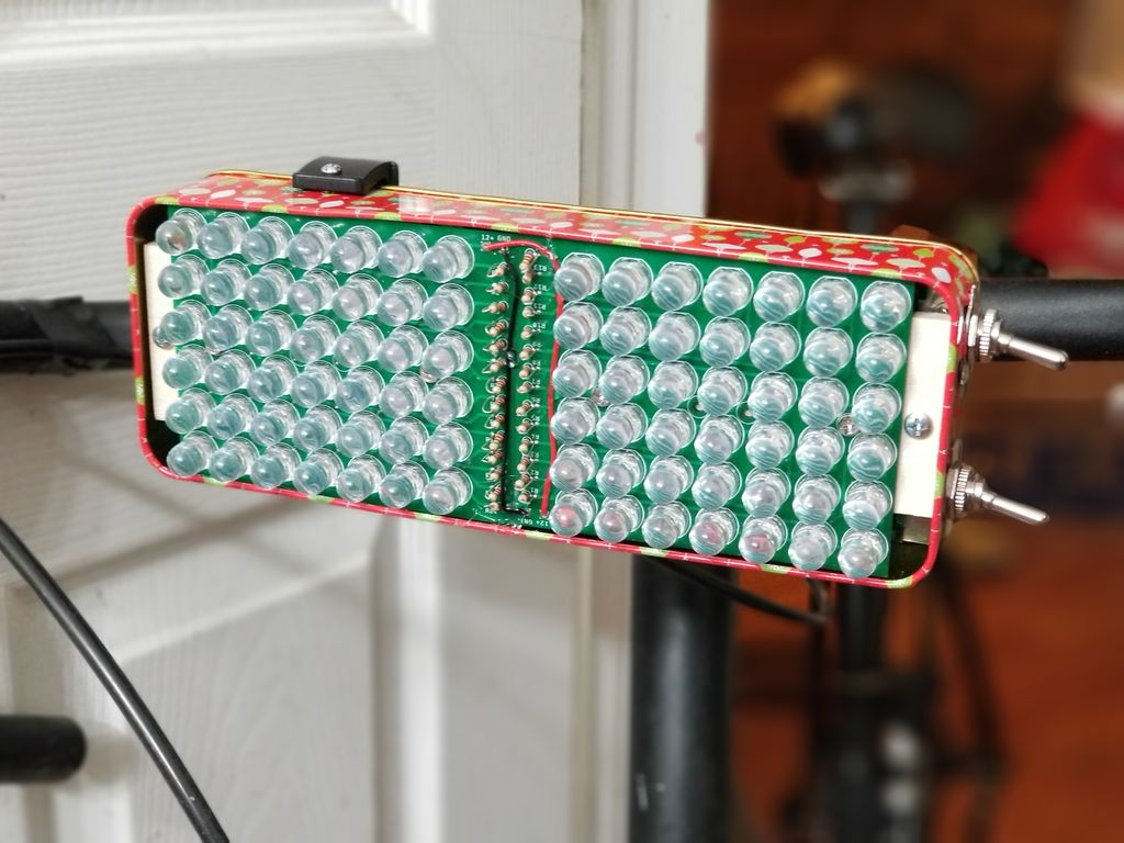 Picture of Very Bright Bike Light Using Custom Light Panel PCBs