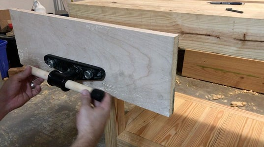 Install Vise Hardware Into Front  Jaw