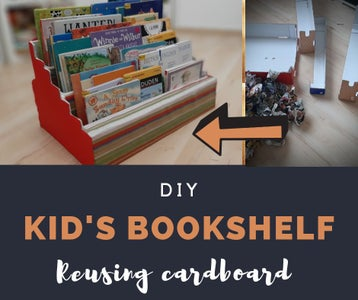 Kids Bookshelf From Cardboard
