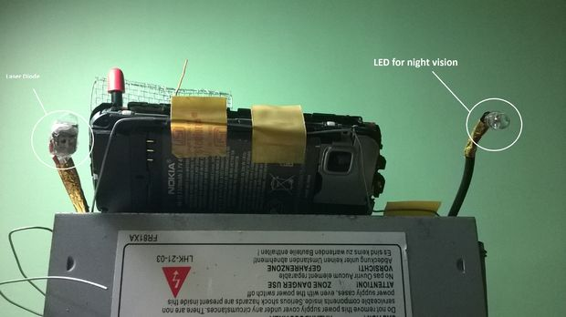 Connecting the Laser Diode and the LED for Night Vision!