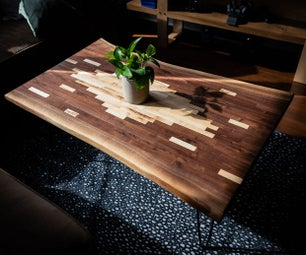 Pixelated Live Edge Coffee Table