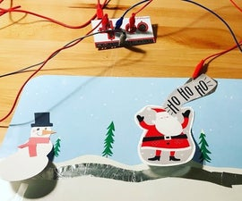 Holiday Makey Makey Door Display