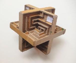 三维纸板迷宫