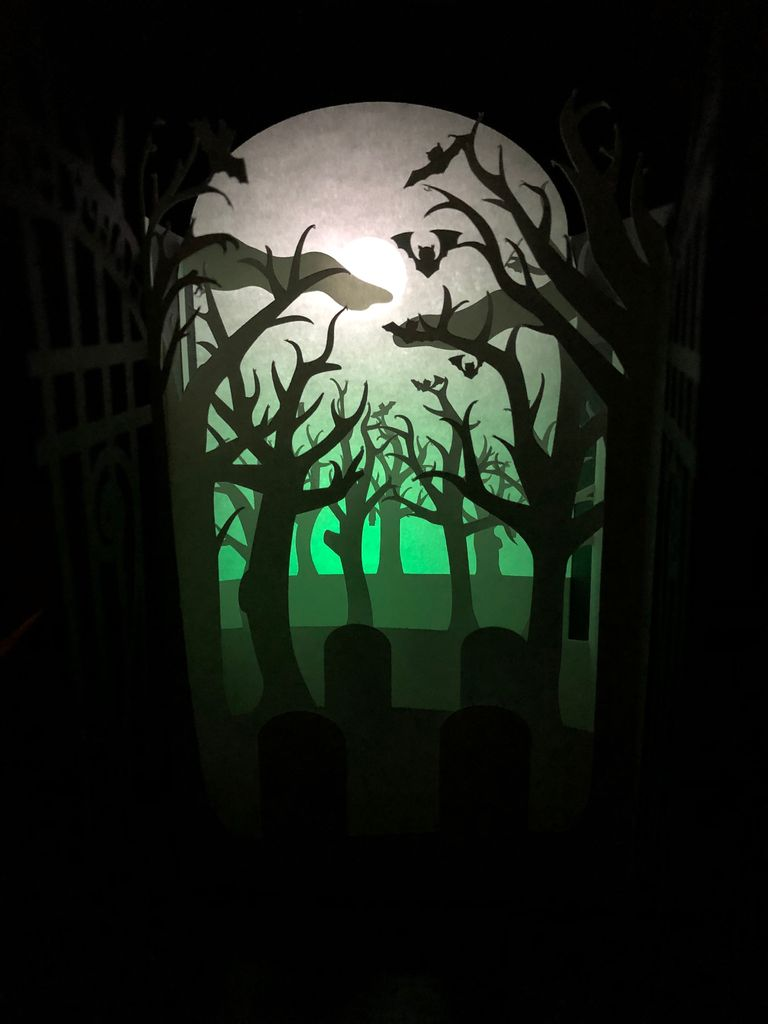 Picture of Spooky Cemetery Lightbox Card