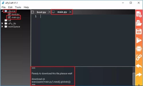Creating the Main.py File on Your Board