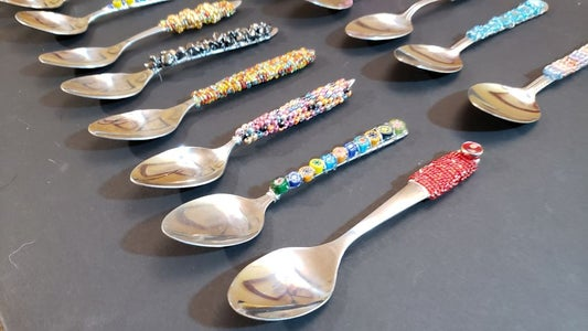 How to Make Fancy Flatware - Decorated Spoons - Easy Last Minute Gift Idea