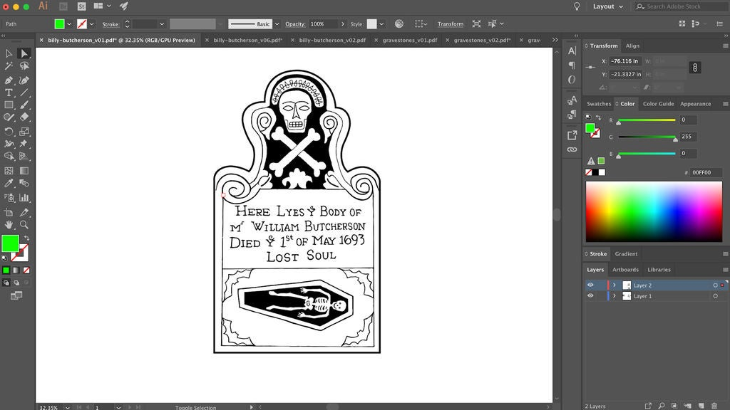 Picture of Design the Tombstone Artwork