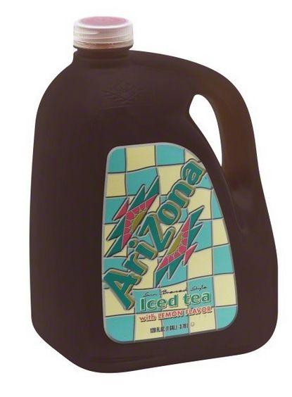 Picture of Arizona Ice Tea 1 gallon containers.