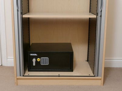 Secret Safe Compartment With Hidden Door and Magnetic Locks