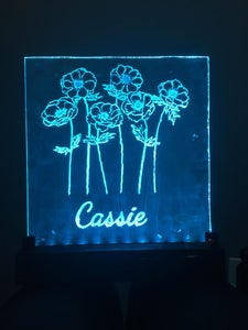 3D Printed LED Plexiglass Sign (Color Changing)