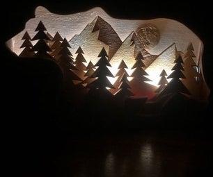 Wooden Shadow Box Nightlight