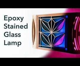 Epoxy Kumiko Lamp Cabinet - Faux Stained Glass