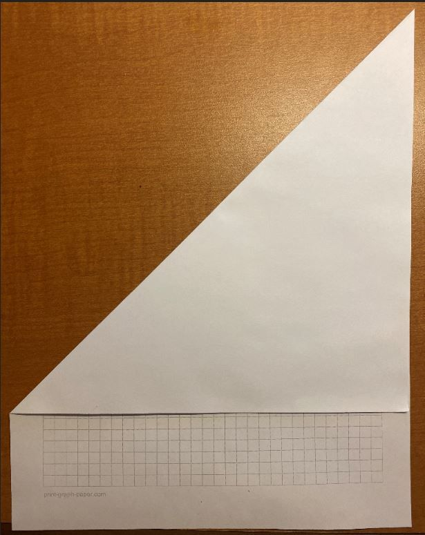 Picture of Creating the Square Piece of Paper (w/o Scissors) (Skip This If You Already Have a Square Piece of Paper.)
