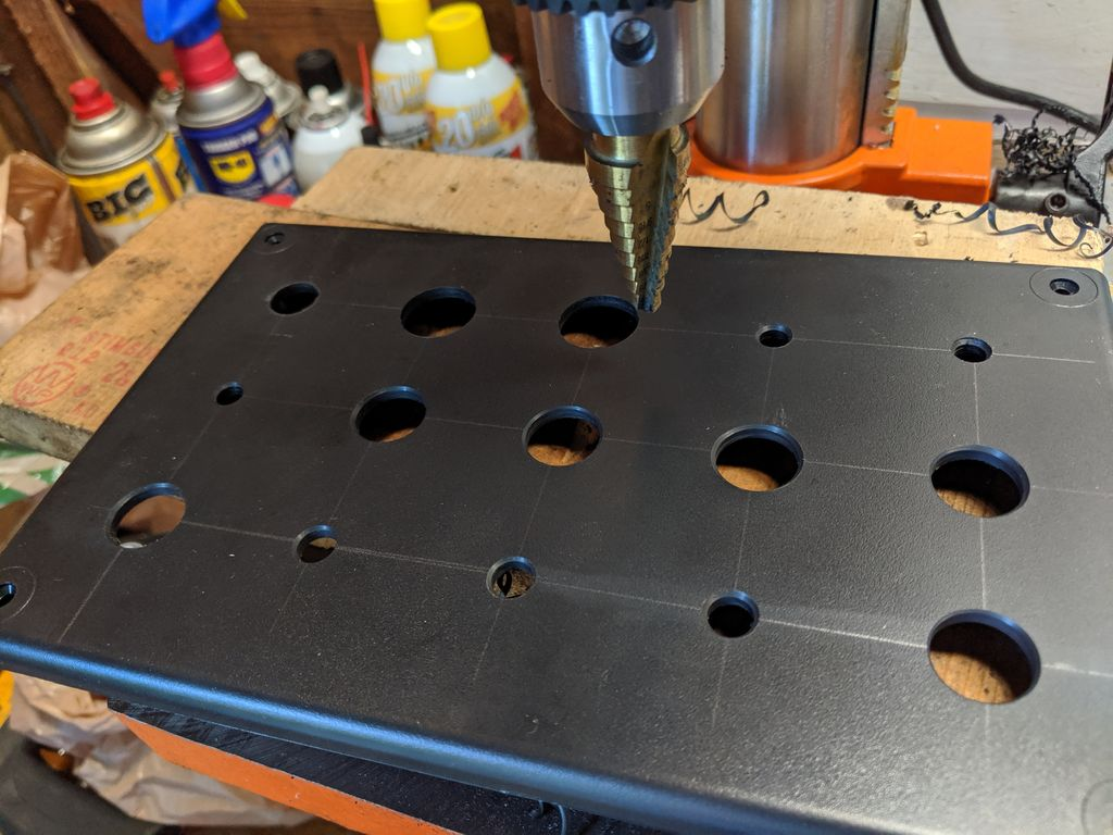 Picture of Step 3: Drill and Mount the Buttons, Switches and Encoders