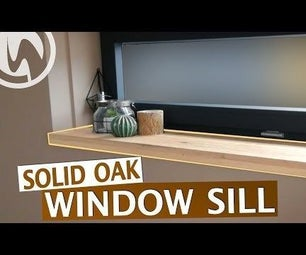 Solid Oak Window Sill
