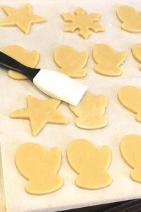 Roll Out Dough and Cut Cookie Shapes