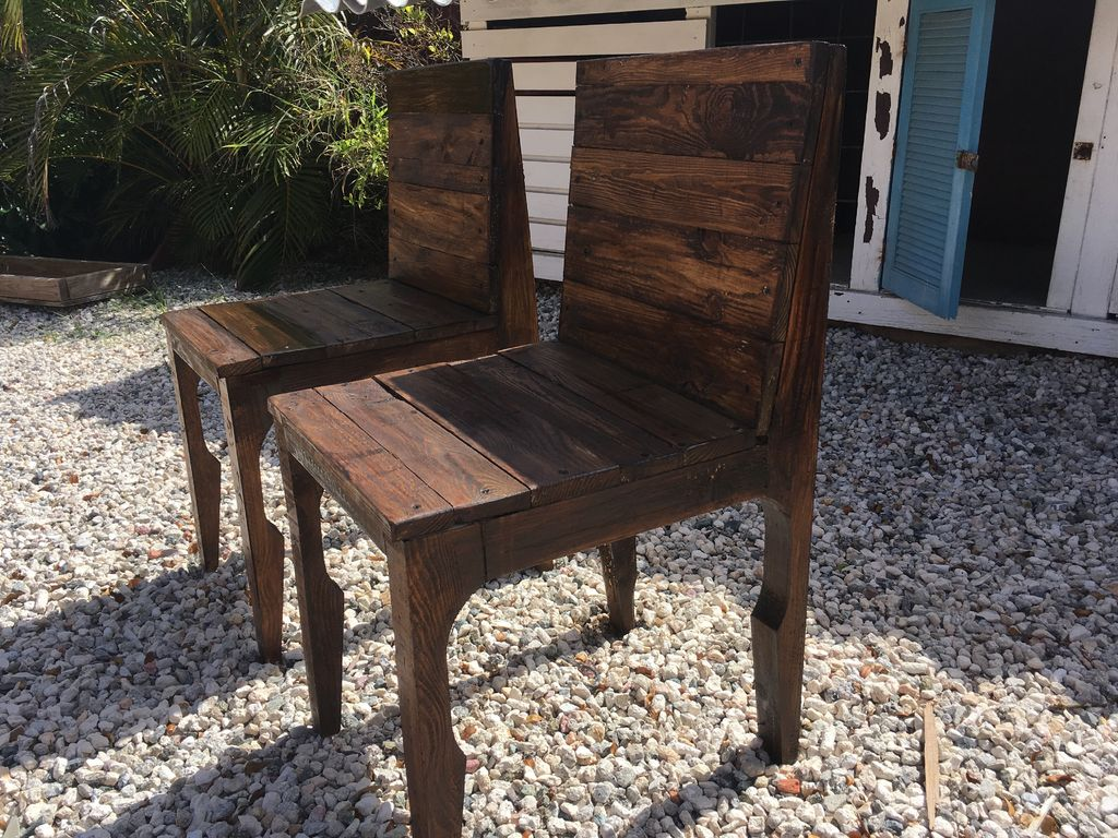 Picture of Elegant Pallet Wood Dining Chairs