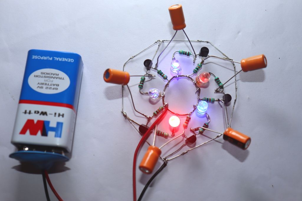 Picture of Nice Effect LED Chaser Circuit Using BC547