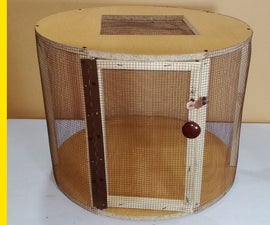 Wooden Cage From Old Table