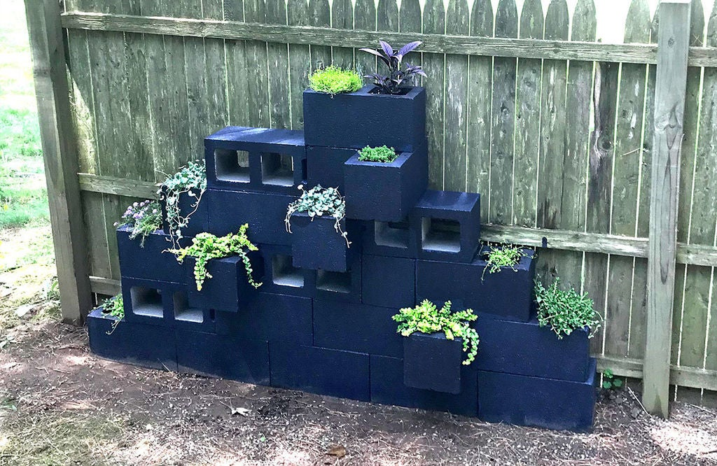 Picture of Cinder Block Planters