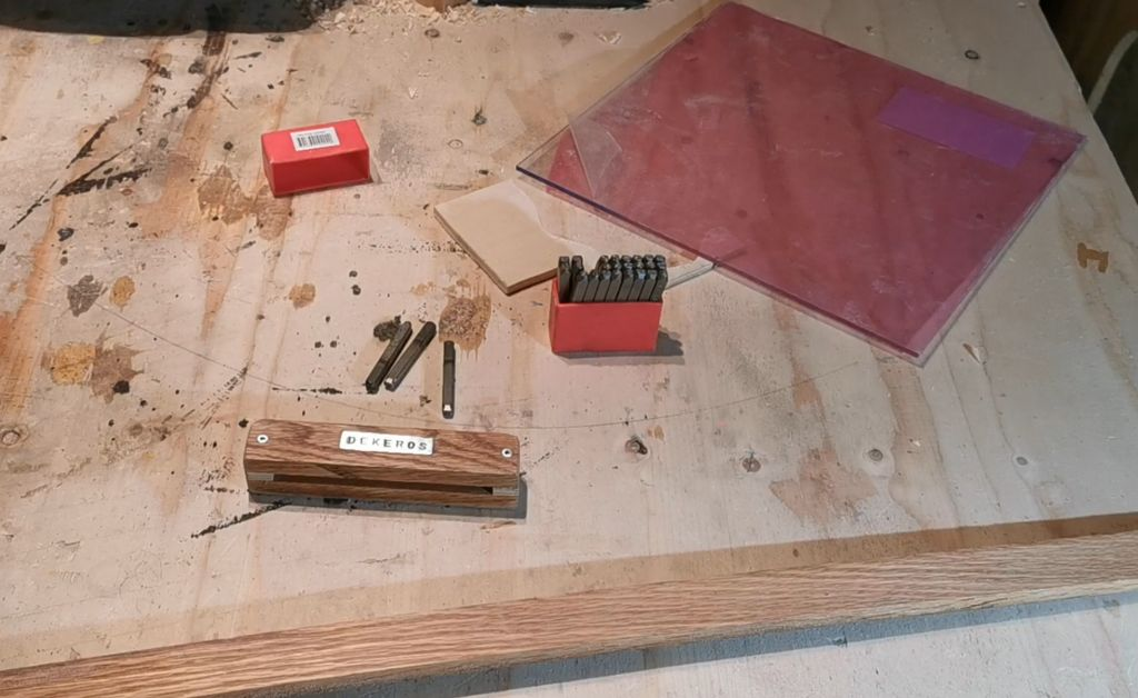 Picture of Improved Jig for Punching/Stamping Letters/Numbers Straight