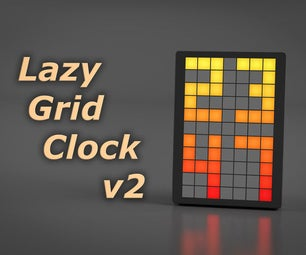 Lazy Grid Clock V2