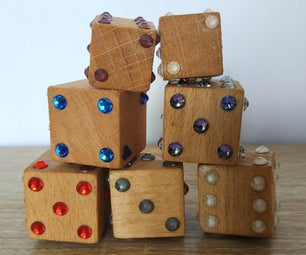 Simple DIY Sparkling Wooden Dice