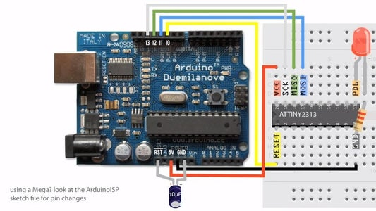 Connect Arduino to AVR