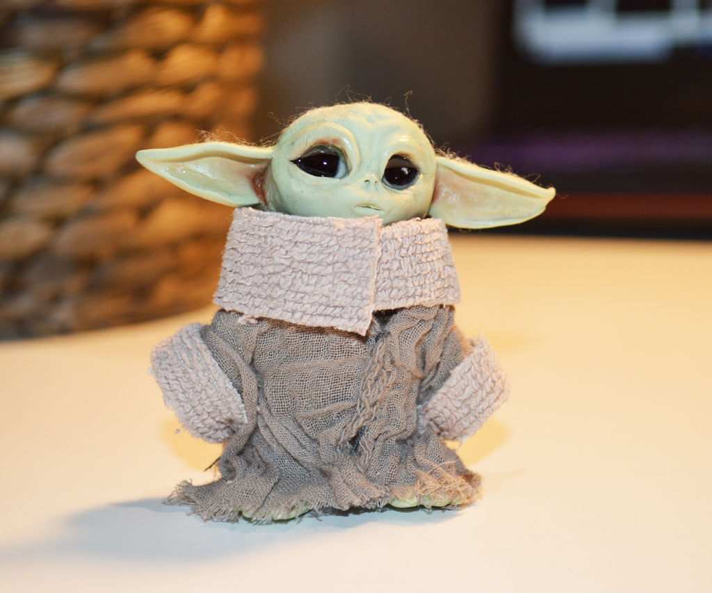 Make a Sculpted Baby Yoda Mini Figure