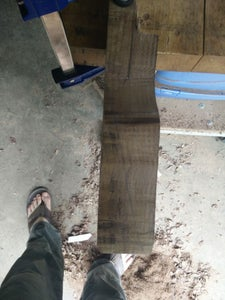 Rough Shaping of the Head and Headstock Angle