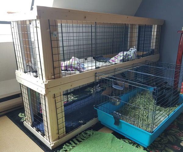 Two-Story Indoor Rabbit Hutch