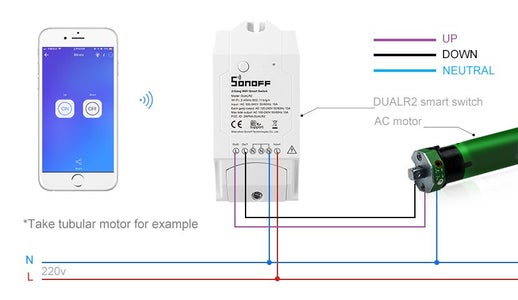 How to Connect DUALR2 With the Blinds Motor?
