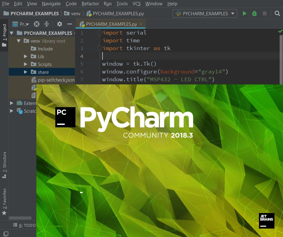Picture of PyCharm