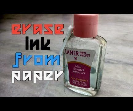 Erase Ink From Paper With Chemistry