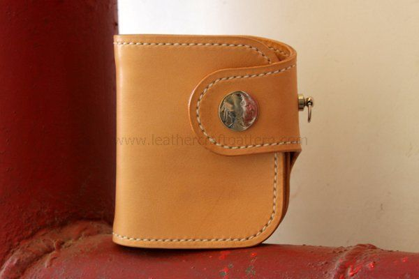 Picture of Leather Short Wallet by Improved Pattern