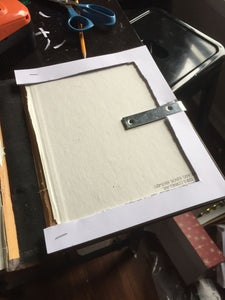Glue the Page Base and Brackets