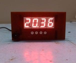 DIY数字时钟使用ATmega328p, RTC DS3231和七段显示