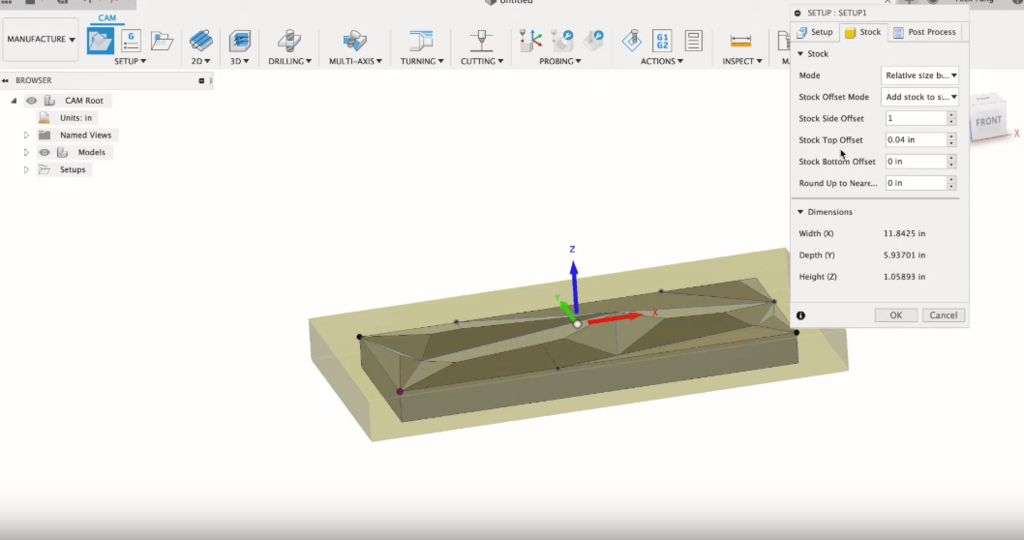 Picture of Setting Up CAM in Fusion 360